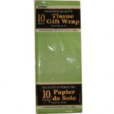 Lime Green Tissue Paper 10 Sheet Pack